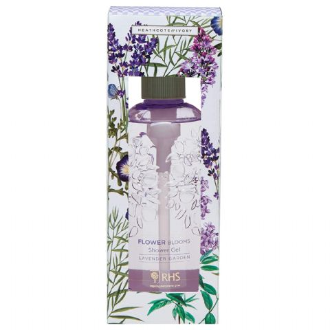 Lavender Garden - RHS Flower Blooms Scented Shower Gel 300ml Heathcote & Ivory